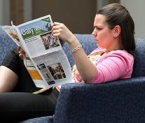 newspaper reader.