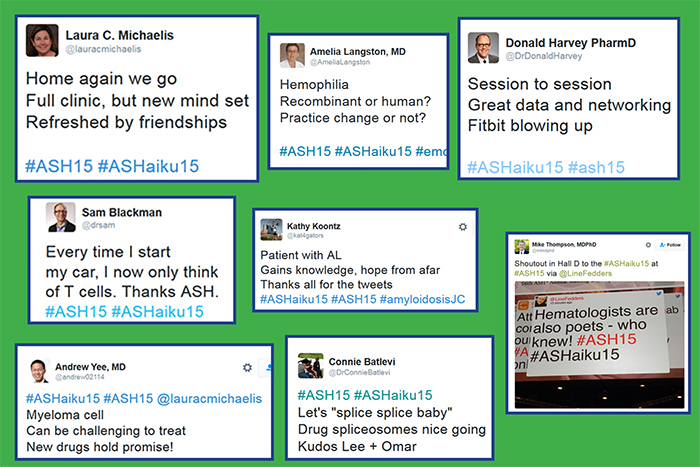 A sampling of the haikus written by attendees during the ASH Annual Meeting.